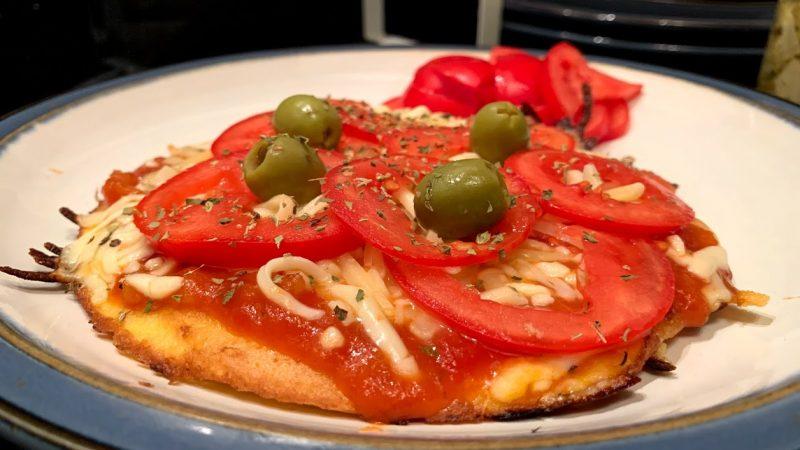 Pizza de frigideira rápida (sem farinha)