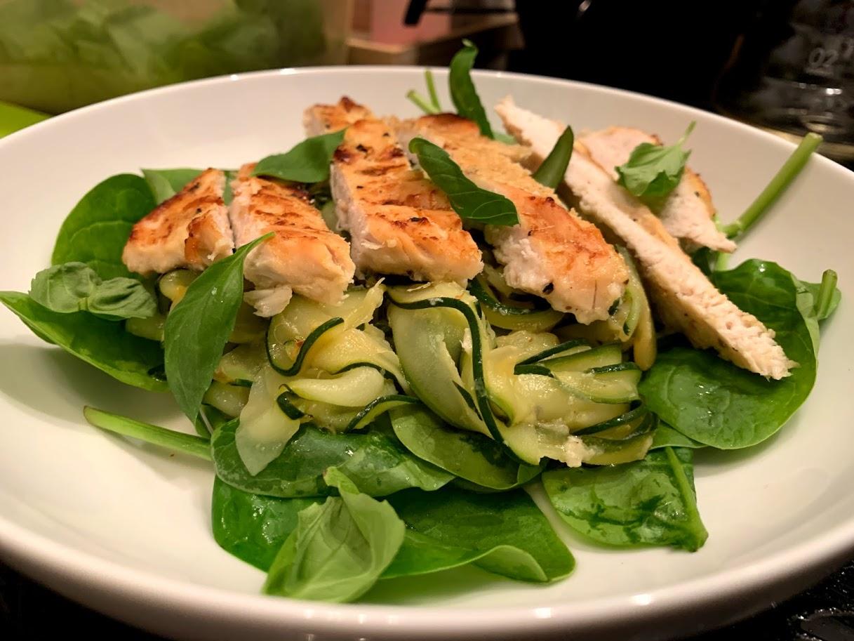 Salada Quente de Abobrinha e Limão