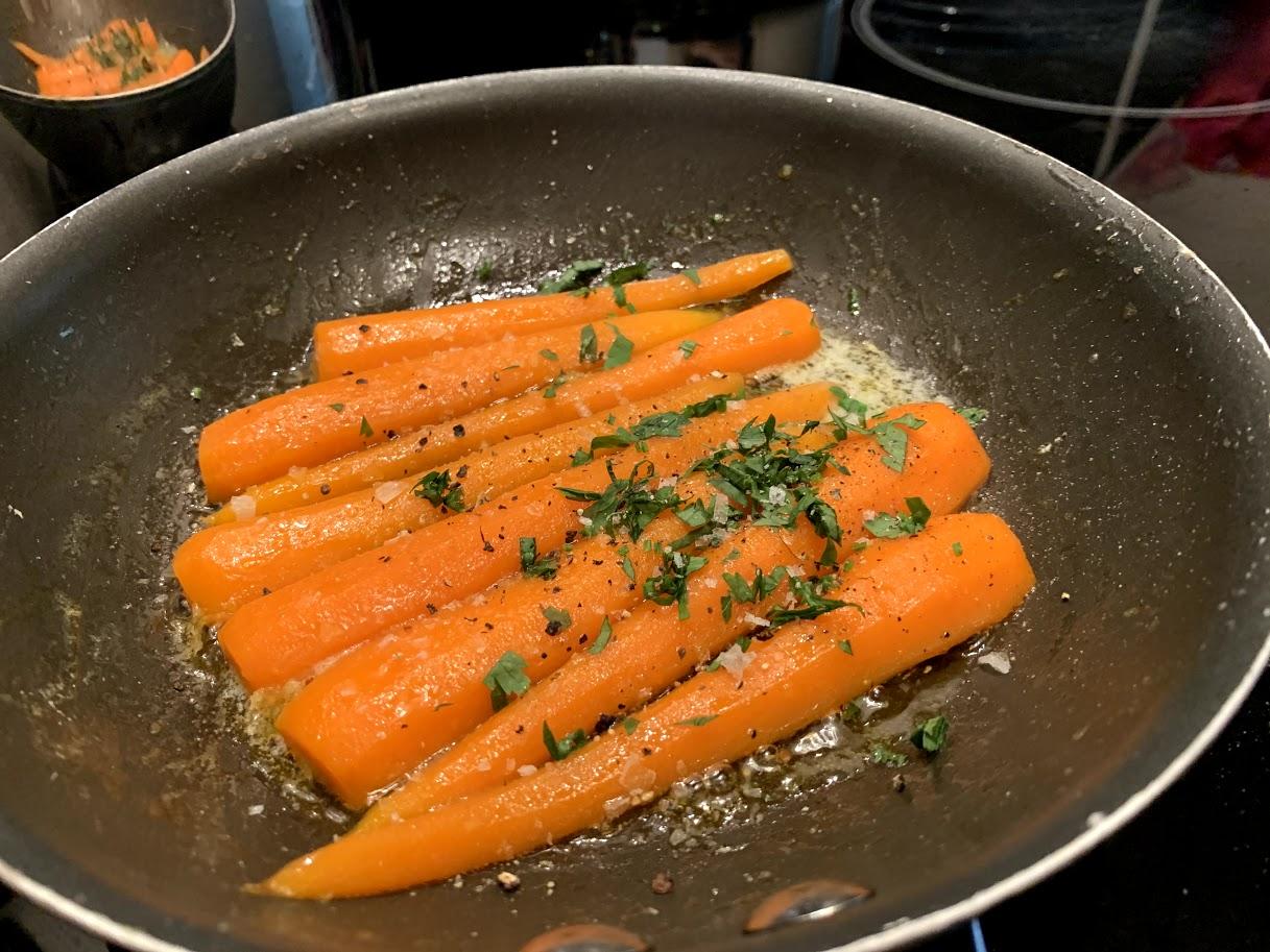 Cenouras Glaceadas